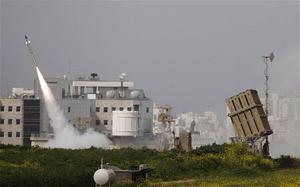 Một tên lửa của israel được phóng từ hệ thống tên lửa
