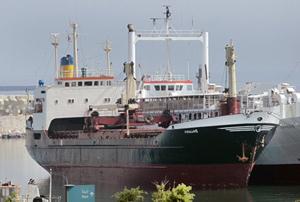 Tàu Lutfallah II neo tại cảng Beirut của Li-băng hôm 28/4