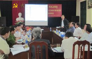 Đồng chí Bùi Văn Cửu – Phó Chủ tịch TT UBND tỉnh, Trưởng BCĐ kết luận hội nghị.
