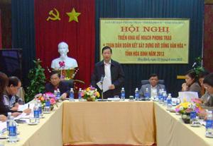 Bùi Văn Cửu, Phó Chủ tịch TT UBND tỉnh, trưởng BCĐ phong trào kết luận tại hội nghị.