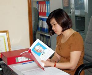 Phan Thị Thúy Huyền luôn nỗ lực để học tập và làm theo phong cách của Bác Hồ.