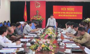 Đồng chí Nguyễn Văn Dũng, Phó Chủ tịch UBND tỉnh phát biểu chỉ đạo hội nghị.