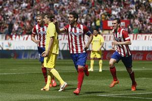 Atletico đã hạ Villarreal để bảo toàn ngôi đầu bảng Liga sau vòng 32.