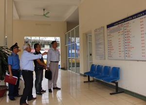 Đoàn thanh tra, kiểm tra về tổ chức và hoạt động của Bến xe khách Bình An.