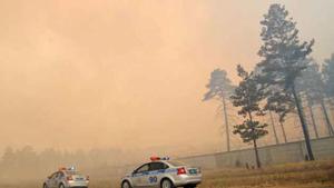 Cháy rừng tại khu vực Siberia, Nga. (Ảnh: TASS).