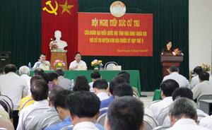 Đoàn Đại biểu Quốc hội tỉnh tiếp xúc cử tri huyện Kim Bôi