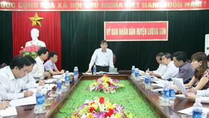 Lãnh đạo UBND tỉnh làm việc tại huyện Lương Sơn về phát triển KT -XH
