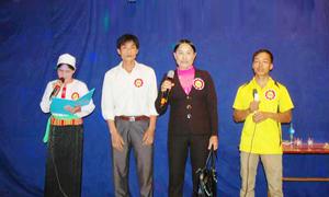 Phần thi kiến thức về Luật Bầu cử tại Hội thi.