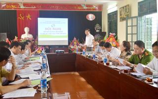 Đồng chí Bùi Văn Cửu, Phó Chủ tịch UBND tỉnh, Trưởng BCĐ liên ngành VSATTP tỉnh phát biểu chỉ đạo hội nghị.