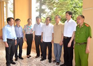 Đoàn công tác Ban VHXH - HĐND tỉnh trao đổi, nắm bắt tình hình thực hiện nhiệm vụ công tác cai nghiện ma tuý tại trung tâm Chữa bệnh - giáo dục - lao động xã hội tỉnh
