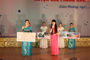 Tiết mục tuyên truyền miệng về chủ đề biển đảo của đơn vị xã Thung Nai đạt giải A và giải tuyên truyền viên xuất sắc nhất.