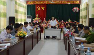 Đồng chí Nguyễn Văn Toàn, TVTU, Trưởng Ban Tuyên giáo Tỉnh uỷ, Trưởng Ban VH-XH&DT phát biểu kết luận buổi giám sát.