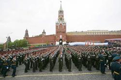 Quân đội Nga diễu binh qua quảng trường Đỏ