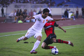 ĐT Việt Nam đã thi đấu nỗ lực trước đối thủ Frankfurt vượt trội về thể hình và đẳng cấp
