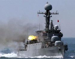 Tàu Hàn Quốc nổ súng trong cuộc tập trận hôm nay