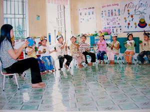 Trẻ em xã Hiền Lương được quan tâm nuôi dạy chu đáo góp phần nâng cao chất lượng dân số.