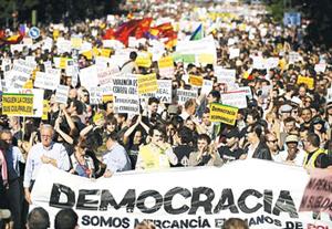 Biểu tình tại Tây Ban Nha phản đối các chính sách khắc khổ của chính phủ.