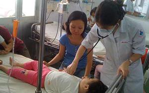 Một bệnh nhi điều trị bệnh tay chân miệng tại Bệnh viện Nhi Đồng 1 - TPHCM