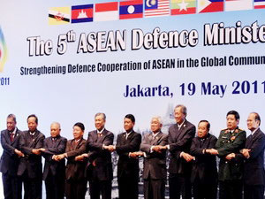 Bộ trưởng Quốc phòng các nước ASEAN tham dự hội nghị.