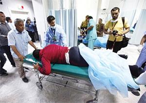 Cấp cứu người bị thương trong đợt không kích của NATO  -