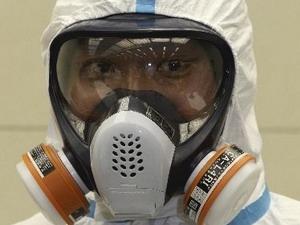Mặt nạ của tác nghiệp viên tại Fukushima 1.