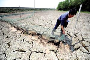 Tình trạng khô hạn diễn ra tại nhiều tỉnh miền Nam Trung Quốc.