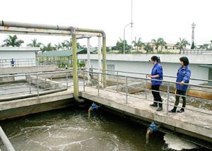 KCN Lương Sơn đầu tư trạm xử lý nước thải công suất 3.000 m3/ngày đêm, bảo đảm phát triển công nghiệp bền vững. Ảnh: P.V