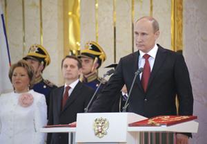 Ông Putin tại lễ nhậm chức tổng thống ngày 7.5.