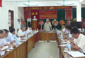 Đ/C Nguyễn Minh Quang, Chủ nhiệm UBKT Tỉnh ủy, Trưởng Ban KT-NS (HĐND tỉnh) phát biểu kết luận buổi giám sát.
