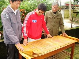 Đạo sắc được tìm thấy ở Nghệ An. (Nguồn: Dân Trí)