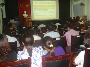 Hội thảo triển khai Dự án sổ theo dõi SKBMTE năm 2013.