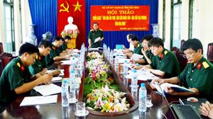 Tại hội thảo Đảng uỷ - Bộ CHQS tỉnh đã thống nhất nội dung và thông qua việc xuất bản sách trong tháng 6/2013.