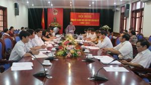 Đồng chí Bùi Văn Cửu, Phó Chủ tịch TT UBND tỉnh phát biểu kết luận trực tuyến.