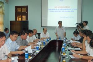 Đồng chí Hoàng Thanh Mịch, Trưởng Ban Tuyên giáo Tỉnh uỷ, Trưởng ban VH-XH&DT (HĐND) tỉnh phát biểu kết luận buổi giám sát.