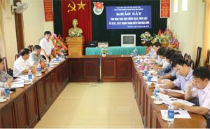 Ban VH, XH&DT, HĐND giám sát, khảo sát về tình hình thực hiện chính sách, pháp luật về SKSS, SKTD trong thanh niên trên địa bàn tỉnh.