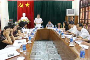 Đồng chí Bùi Văn Cửu, Phó Chủ tịch TT UBND tỉnh kết luận hội nghị.