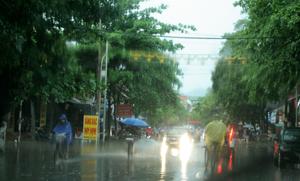 Đây được xem là trận mưa lớn nhất từ đầu năm 2014 trên địa bàn TP Hòa Bình.