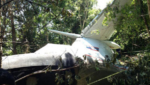 Hiện trường vụ tai nạn máy bay (ảnh: KPL)