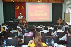 Đồng chí Bùi Văn Cửu, Phó Chủ tịch TT UBND tỉnh phát biểu kết luận hội nghị.