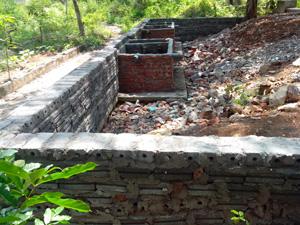Công trình xây dựng trái phép của ông Bạch Công Nẹ ở tổ 19, phường Hữu Nghị, thành phố Hòa Bình.