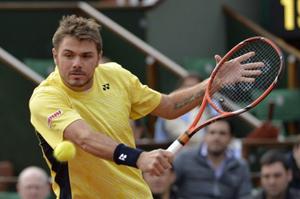 Tay vợt số 3 thế giới Wawrinka đã phải dừng bước ngay ở vòng một.