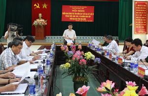 Đồng chí Bùi Văn Cửu, Phó chủ tịch TT UBND tỉnh, Trưởng BCĐ 1237 tỉnh phát biểu kết luận hội nghị.