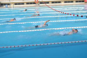 Các VĐV huyện Kim Bôi tham gia thi đấu ở nội dung 10 m bơi tự do cá nhân nam tại giải bơi cự ly trẻ, vô địch, trung - cao tuổi.