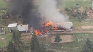 Hình ảnh được cho là hiện trường vụ tai nạn. (Nguồn: CNN)