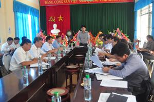 Đồng chí Nguyễn Văn Dũng, Phó Chủ tịch UBND tỉnh phát biểu kết luận buổi làm việc.