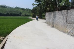 Đường giao thông nội đồng xóm Đồng Tiến, xã Tân Vinh được bê tông hóa tạo thuận lợi cho người dân đi lại, sản xuất.