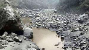Lở đất đã chặn dòng sông Kali Gandaki. (Ảnh: BBC)