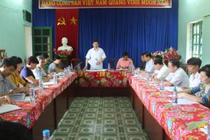 Đồng chí Bùi Văn Cửu, Phó Chủ tịch TT UBND tỉnh, Trưởng BCĐ công tác DS/KHHGĐ tỉnh kết luận buổi làm việc.