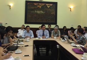 Toàn cảnh buổi gặp gỡ báo chí để chia sẻ về việc cổ phần hóa VFS chiều qua tại Bộ VH.