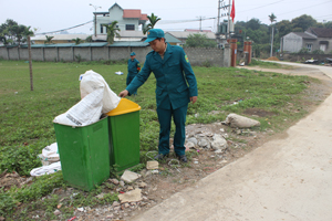 Xã Lâm Sơn (Lương Sơn) đã đạt tiêu chí số 17 về môi trường. Chất thải và rác thải được xã thu gom và xử lý theo quy định.